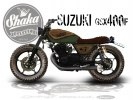 Кастом Suzuki GSX400F Tracker Wood - фото 1