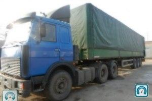 Частное объявление о продаже б.у. грузовика МАЗ 6422 (синий) 1994 года выпуска за 10000$ в Кривом Роге.