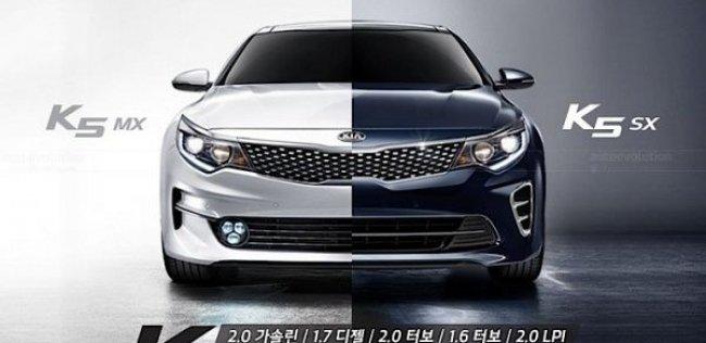 В Корее представлена новая версия седана Kia K5