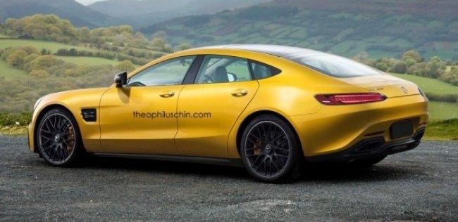 Новейший суперкар Mercedes AMG GT превратили в четырехдверку