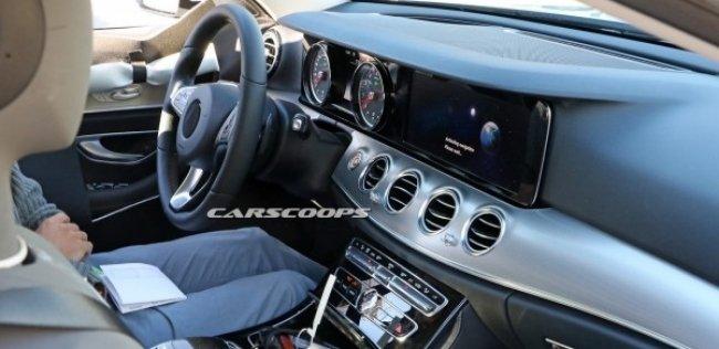 В сети появились первые фотографии салона нового Mercedes-Benz E-Class