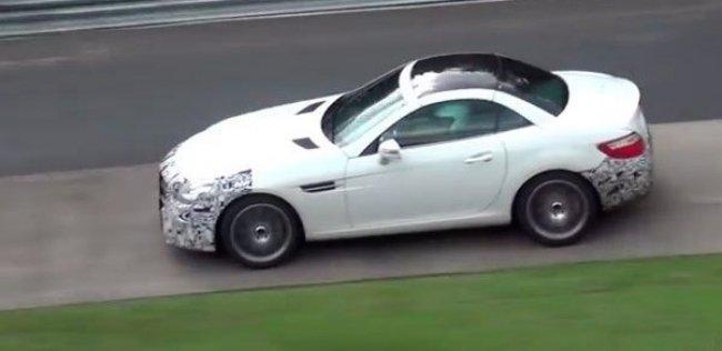 Обновленный Mercedes SLK испытали на Нюрбургринге