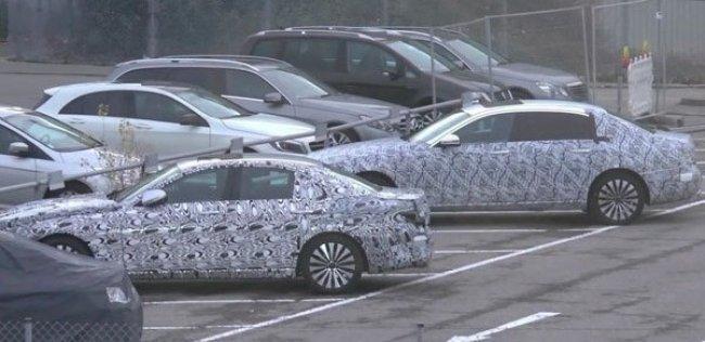 Удлиненная версия Mercedes E-Class впервые замечена на тестах