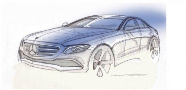 Mercedes-Benz показал официальный эскиз нового E-Class