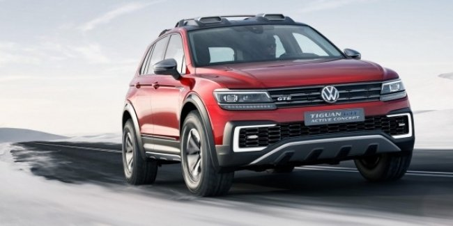 VW Tiguan GTE Active: первые фото нового гибридного кросса