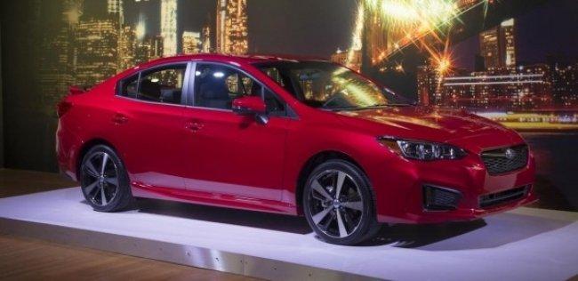 Появились первые фотографии нового седана Subaru Impreza