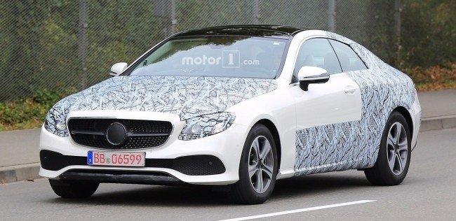 Шпионы сфотографировали купе Mercedes-Benz E-Class
