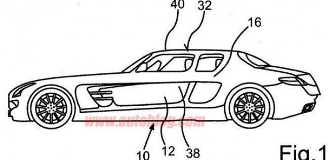 Mercedes-Benz запатентовал четырехдверный SLS AMG