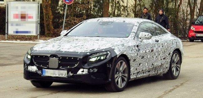 Mercedes-Benz вывел на тесты купе S-Class