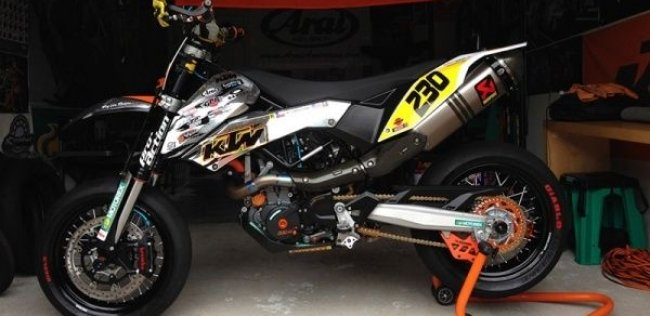 Тюнингованный мотоцикл KTM 690 SMC