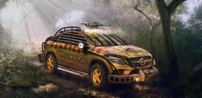 Mercedes переделал GLE Coupe для съемок «Мира Юрского периода»