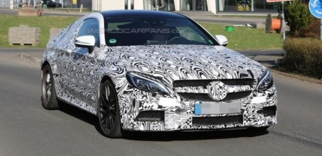 Mercedes C63 AMG Coupe впервые замечен на тестах