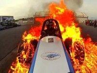 GoPro показала огненный бернаут