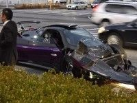 Самое дорогое ДТП года: авария Pagani Zonda и Maybach