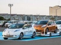 Nissan разработал автономные буксировщики для перевозки автомобилей