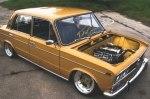 ВАЗ-2103 превратили в стильное авто с пневмоподвеской BMW и кучей наворотов
