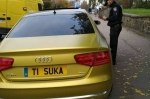 В соцсетях прославилась нерастаможенная Audi с очень красноречивым номером