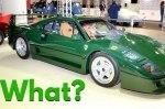 В Италии показали самый необычный суперкар Ferrari F40