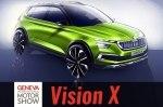Skoda представила в Женеве концепт газового гибрида Vision X