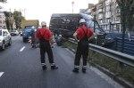 В Киеве на Борщаговке пьяный водитель микроавтобуса вылетел на трамвайные пути