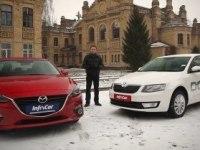 Тест-сравнение Mazda 3 и Skoda Octavia A7