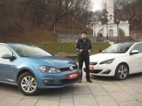 Тест-сравнение Peugeot 308 и VW Golf 7