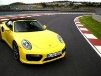 Porsche 911 Turbo Cabriolet на треке