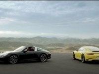 Красивое видео Porsche 911 Targa и 911 Carrera