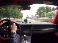 Porsche 911 GT2 RS в движении глазами водителя