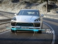 Porsche Cayenne Turbo Dynamic Chassis Control (PDCC) and Aerodynamics.