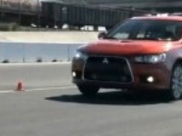 Lancer Sportback Ralliart - испытания на треке.