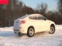 Динамика на снегу BMW X6 M