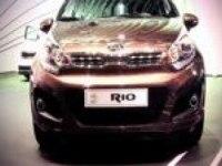 Киа Рио хэтчбек на автосалоне в Женеве.